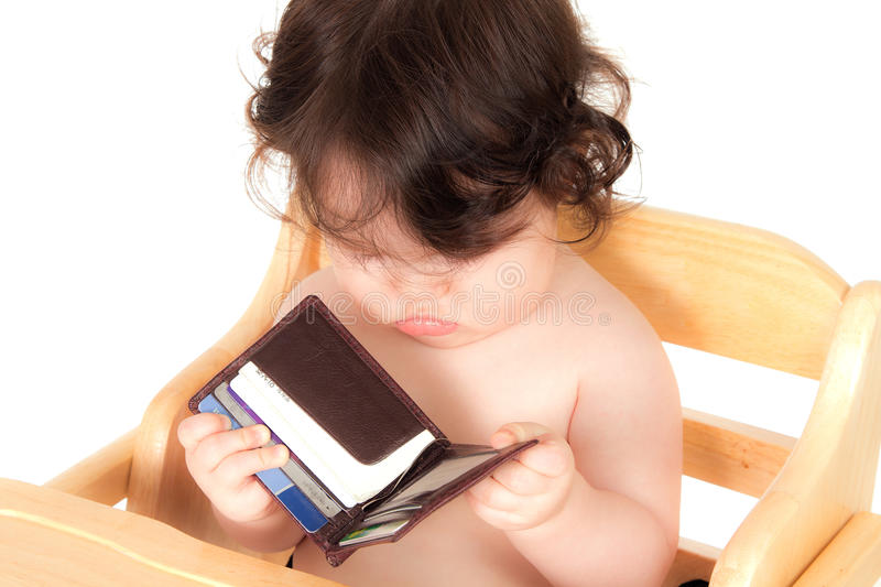 Download Baby Has Daddy By The Wallet Stock Photo - Image: 20124314