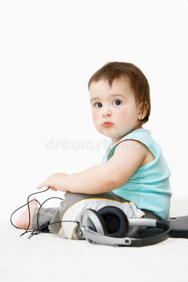 Download Baby headsets. stock photo. Image of children, toddler - 28152472