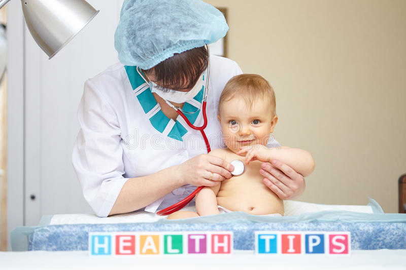 Baby healthcare and treatment. Health tips concept. royalty free stock photo