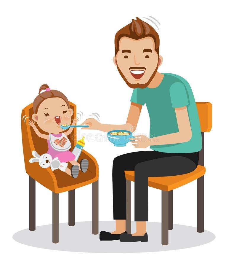 Baby het eten royalty-vrije illustratie