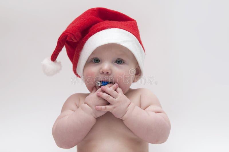 Baby in het thema van Kerstmis royalty-vrije stock afbeelding
