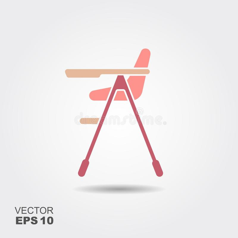 Baby high chair royalty free illustration