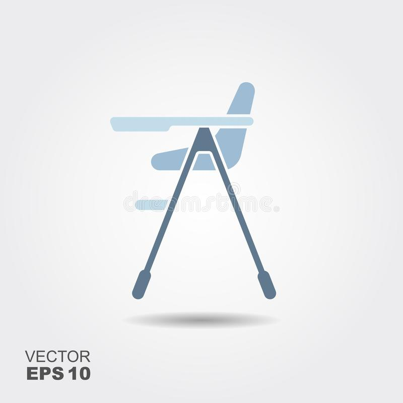 Baby high chair stock illustration