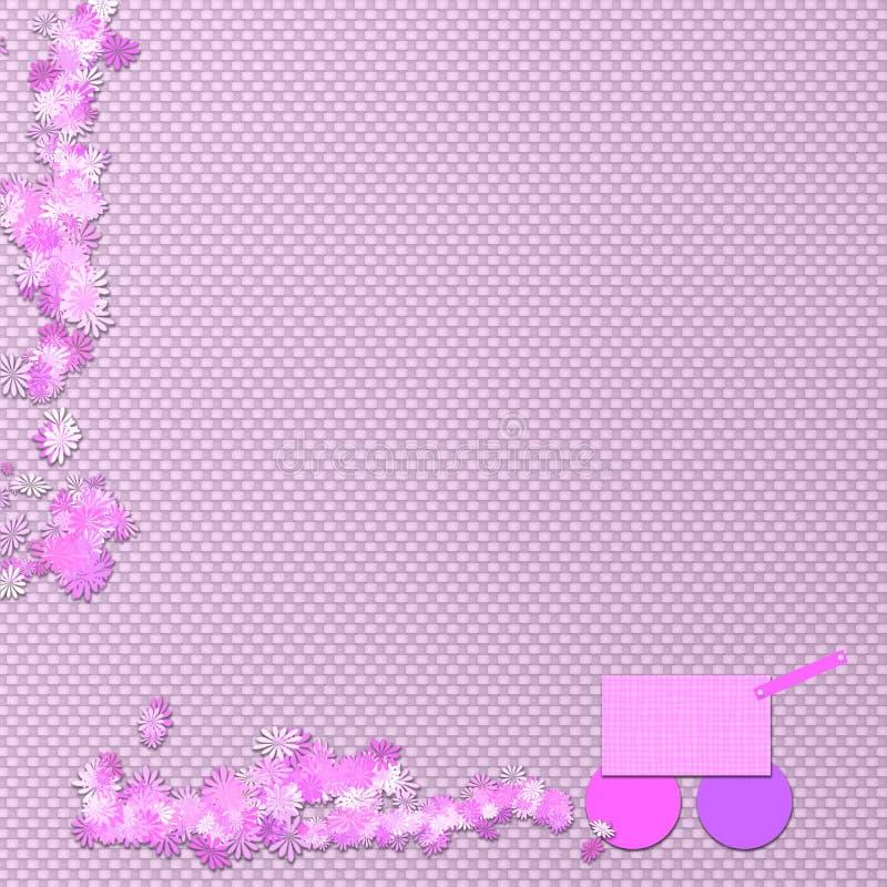 Baby-Hintergrund-Schablone stockbilder