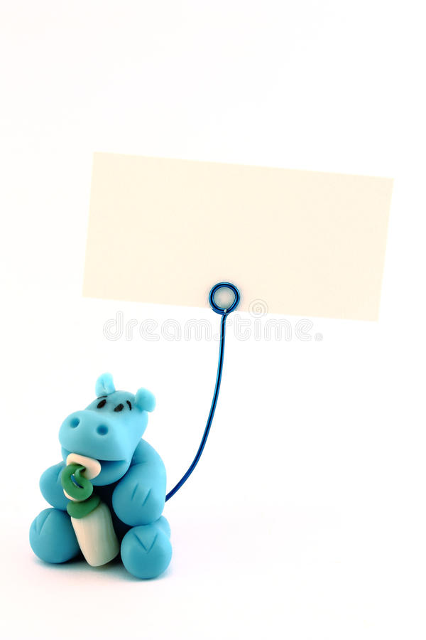 Download Baby hippo with blank sign stock photo. Image of sign - 41657460