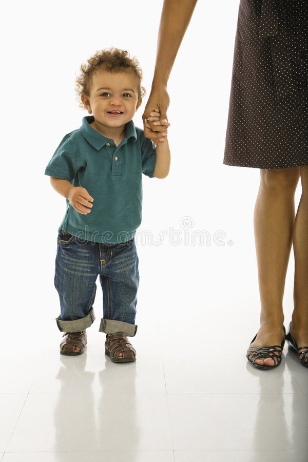 Download Baby holding mom's hand. stock image. Image of colour - 3422637