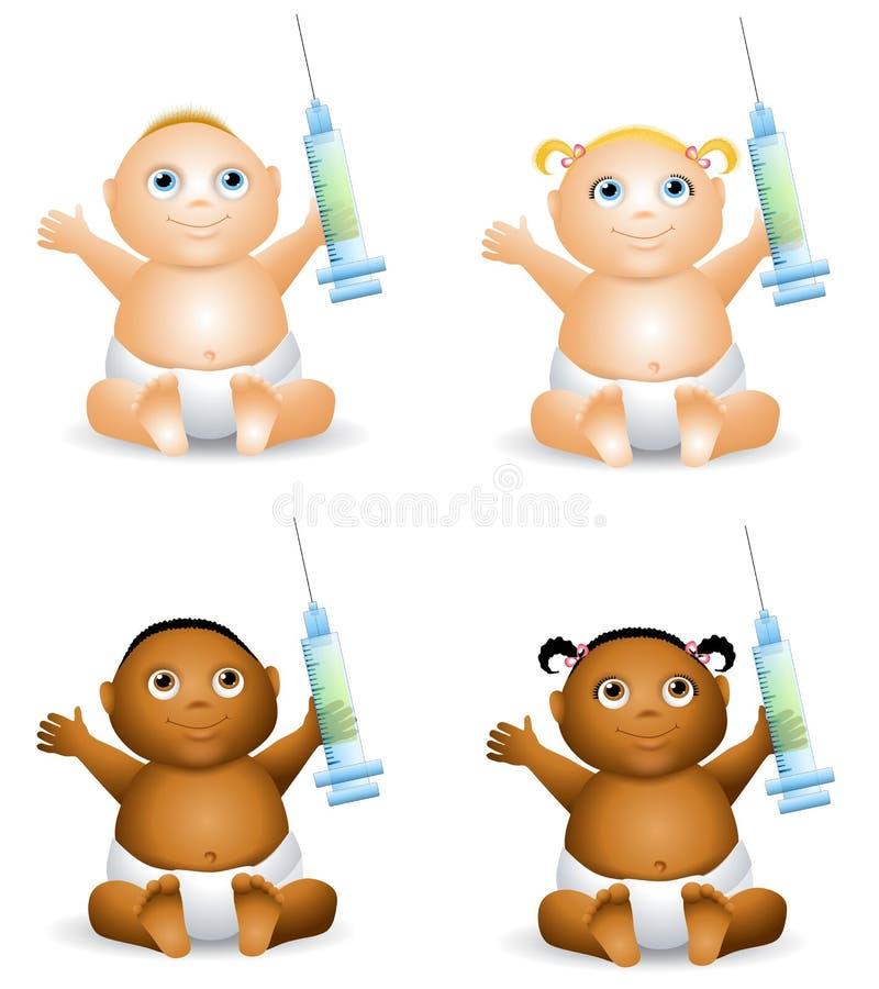 Free Baby Holding Syringe Royalty Free Stock Images - 7360239