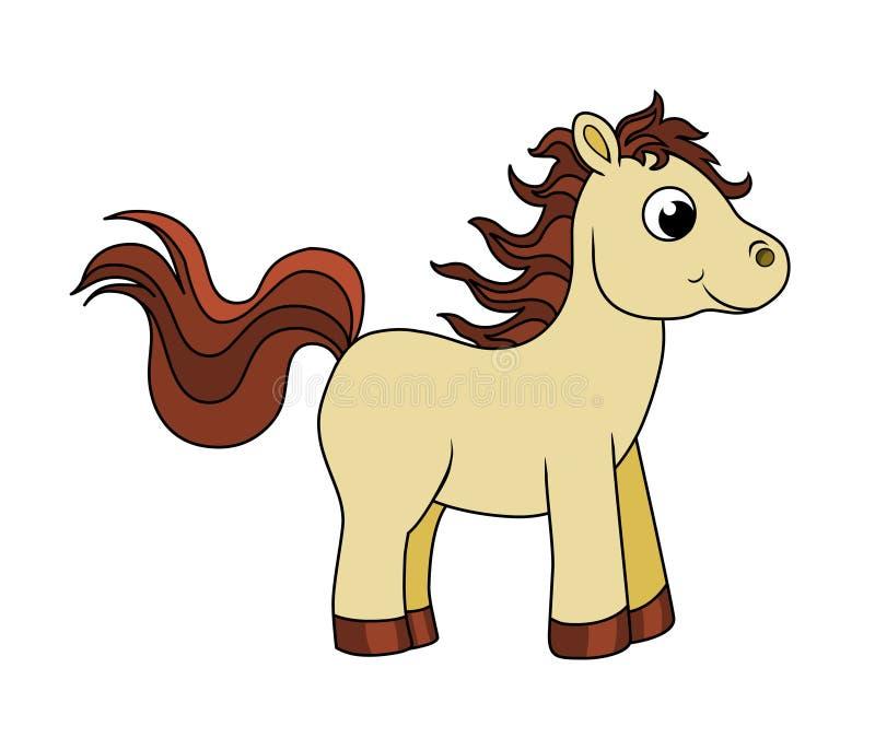 Baby horse. Cartoon animal.Cute baby horse isolated on white background vector illustration