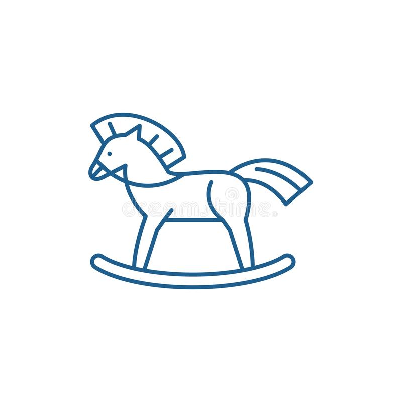 Baby horse line icon concept. Baby horse flat  vector symbol, sign, outline illustration. Baby horse line concept icon. Baby horse flat  vector website sign vector illustration
