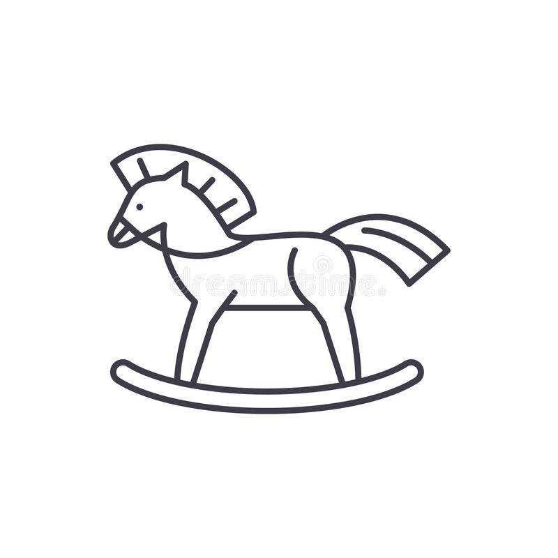 Baby horse line icon concept. Baby horse vector linear illustration, symbol, sign. Baby horse line icon concept. Baby horse vector linear illustration, sign vector illustration
