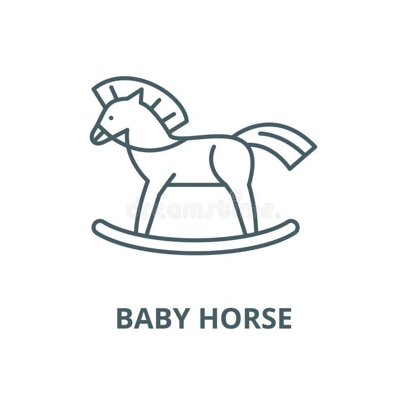 Baby horse vector line icon, linear concept, outline sign, symbol. Baby horse vector line icon, outline concept, linear sign vector illustration