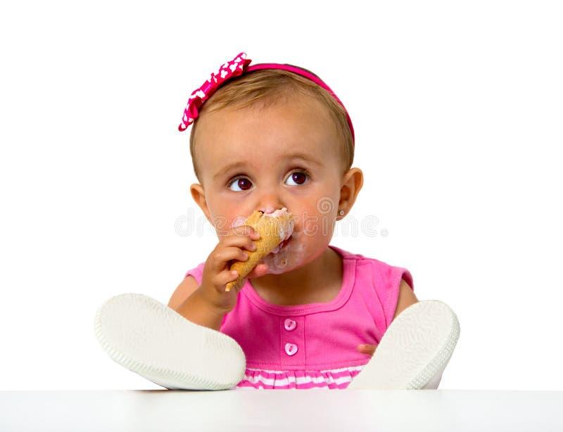 Baby icecream royalty free stock photos