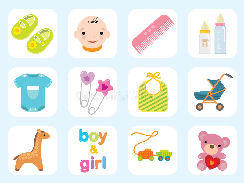 Baby icon collection royalty free illustration