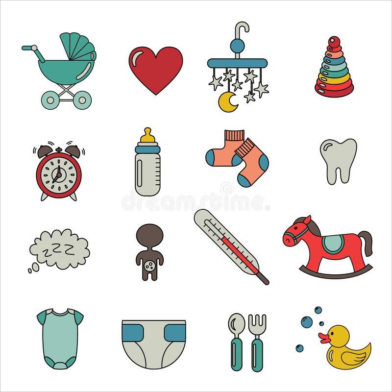Baby icon stock image