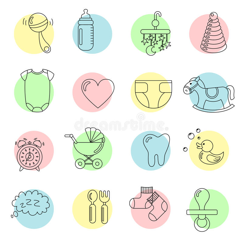 Baby icon royalty free stock photography