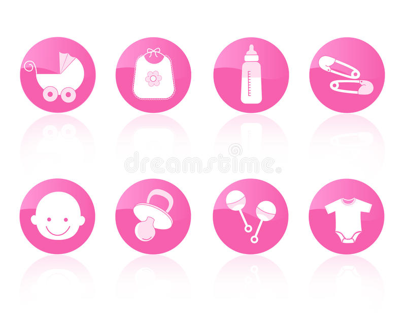 Baby icon set stock illustration