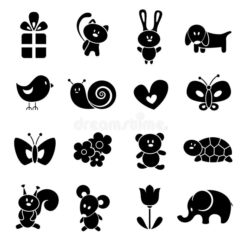 Baby icon set. EPS 8 vector illustration