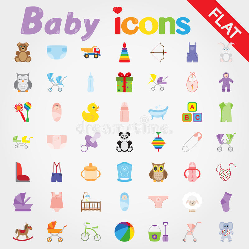 Baby. Icon set. royalty free illustration