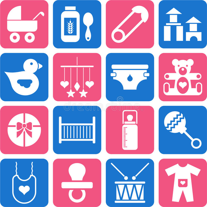 Download Baby icons stock vector. Image of father, pacifiers, breastfeeding - 23933347