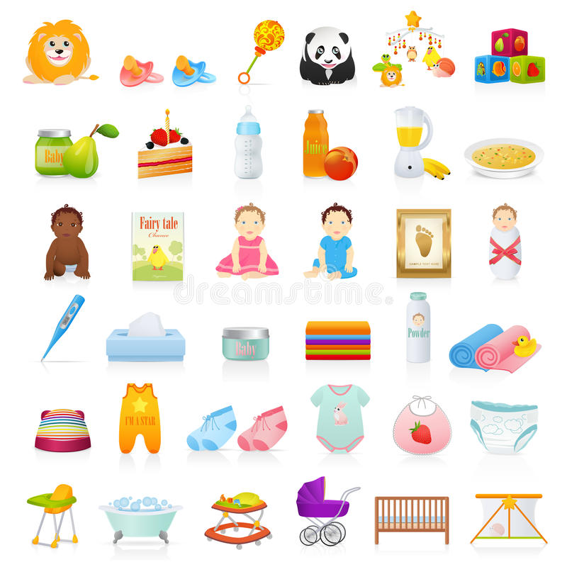 Baby icons vector illustration