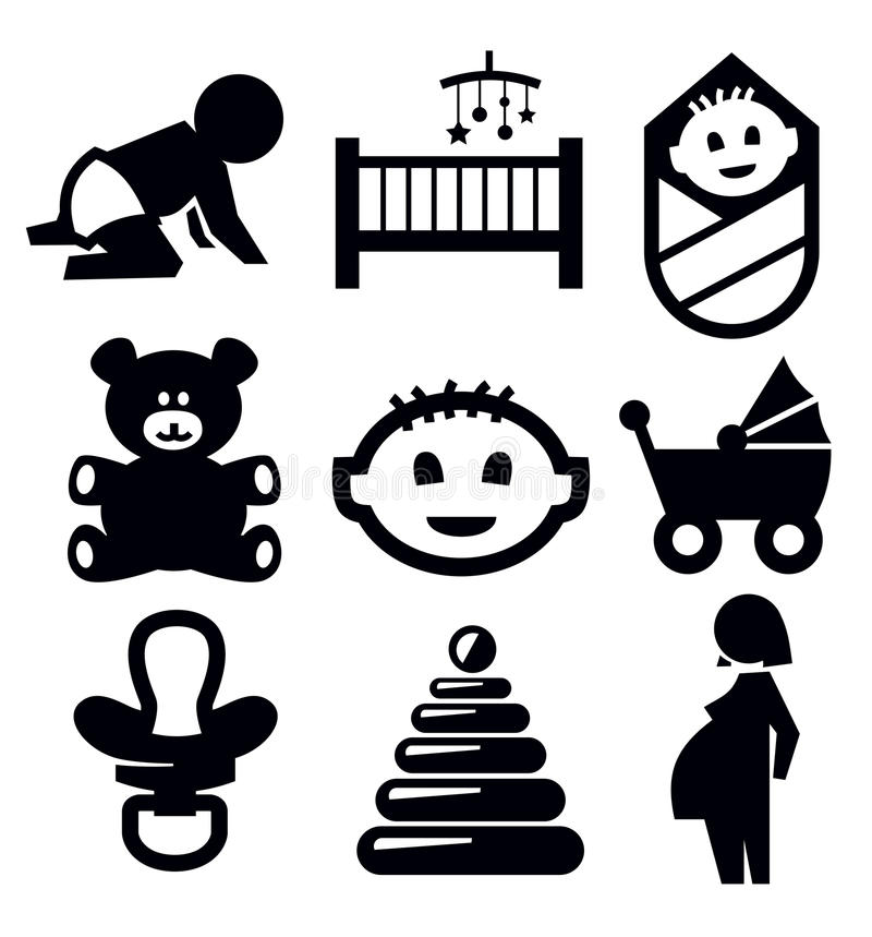 Download Baby icons stock vector. Image of bear, cute, newborn - 29205140
