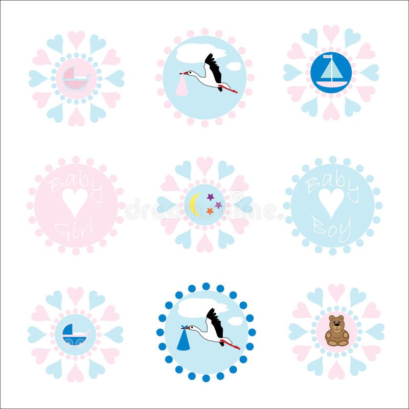 Download Baby Icons / Logos stock vector. Image of elements, bear - 13412474