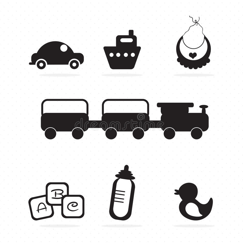 Baby icons. ( objects, concepts and elements) vector illustration royalty free illustration