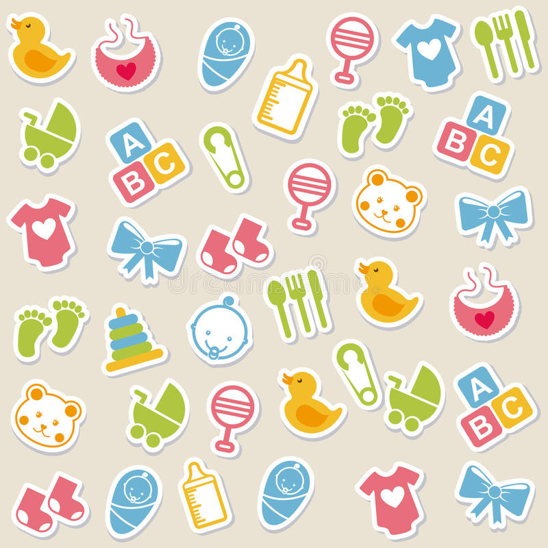 Baby icons. Over beige background vector illustration vector illustration