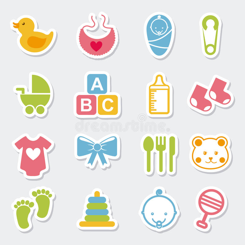 Baby icons. Over blue background vector illustration vector illustration
