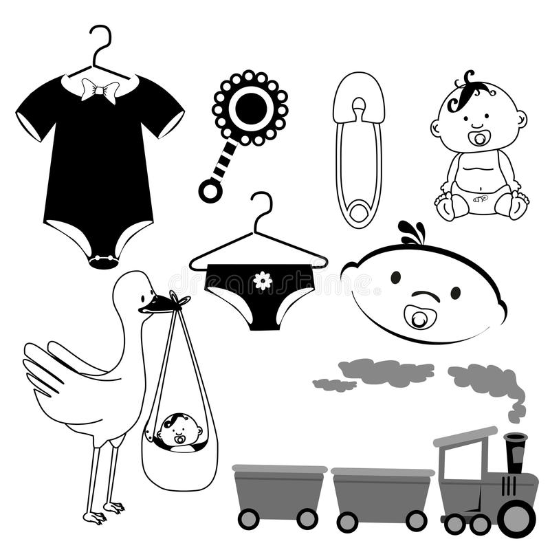 Baby icons. Over white background vector illustration vector illustration