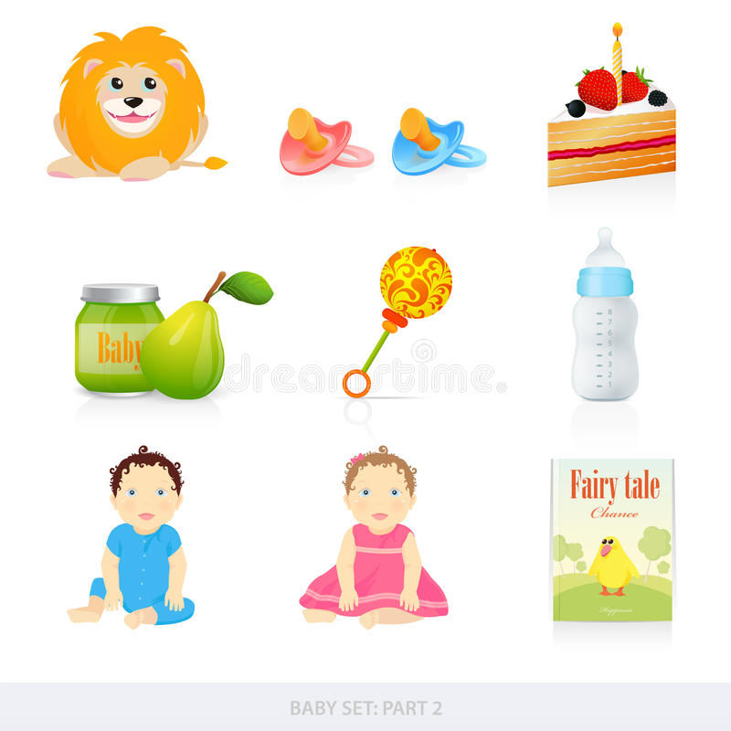 Free Baby Icons. Part 2 Stock Images - 23594394