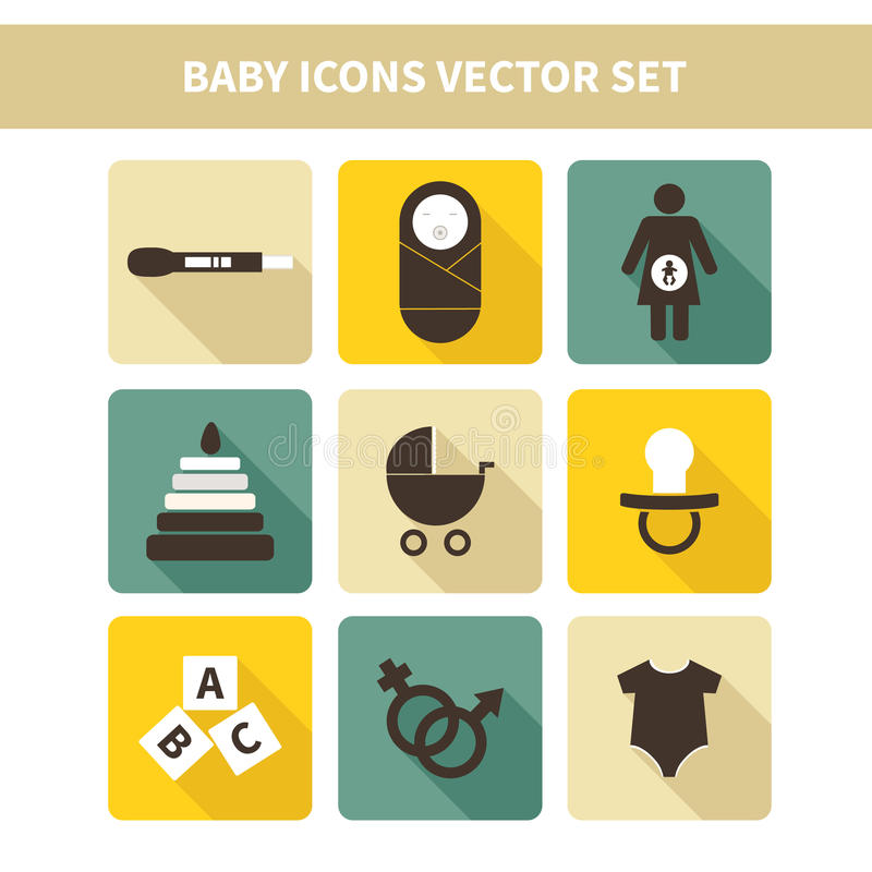 Baby icons. Perfect detailed baby icons made in vector stock illustration