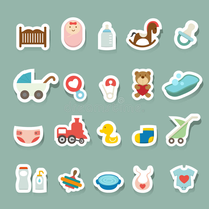 Baby Icons set vector illustration