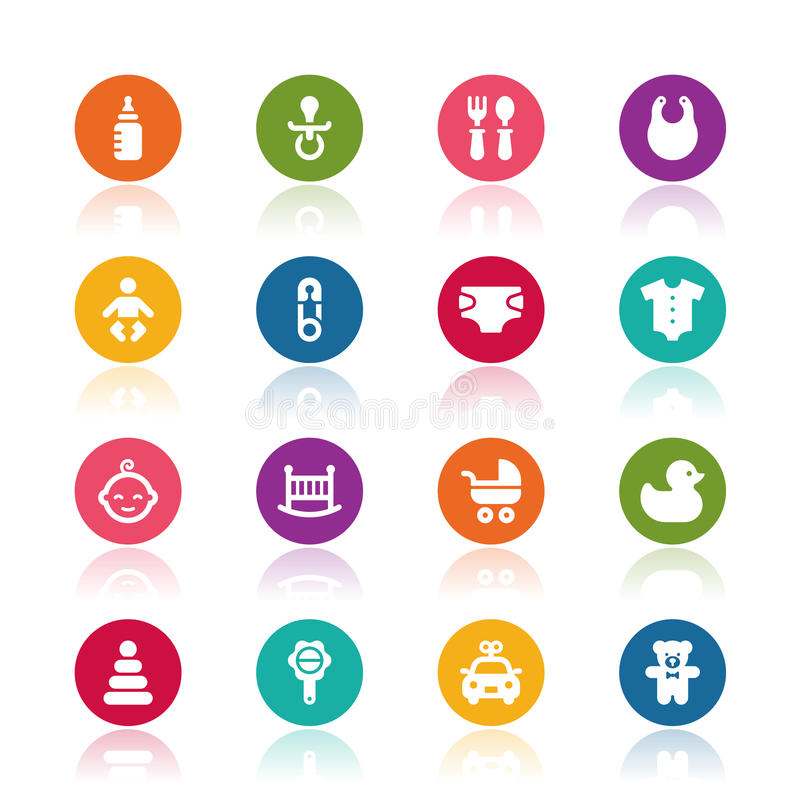 Baby icons. On white background vector illustration