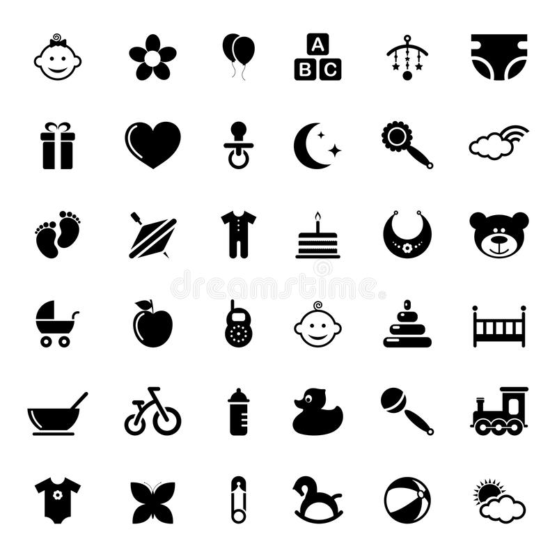 Baby icons. On white background. Vector illustration vector illustration
