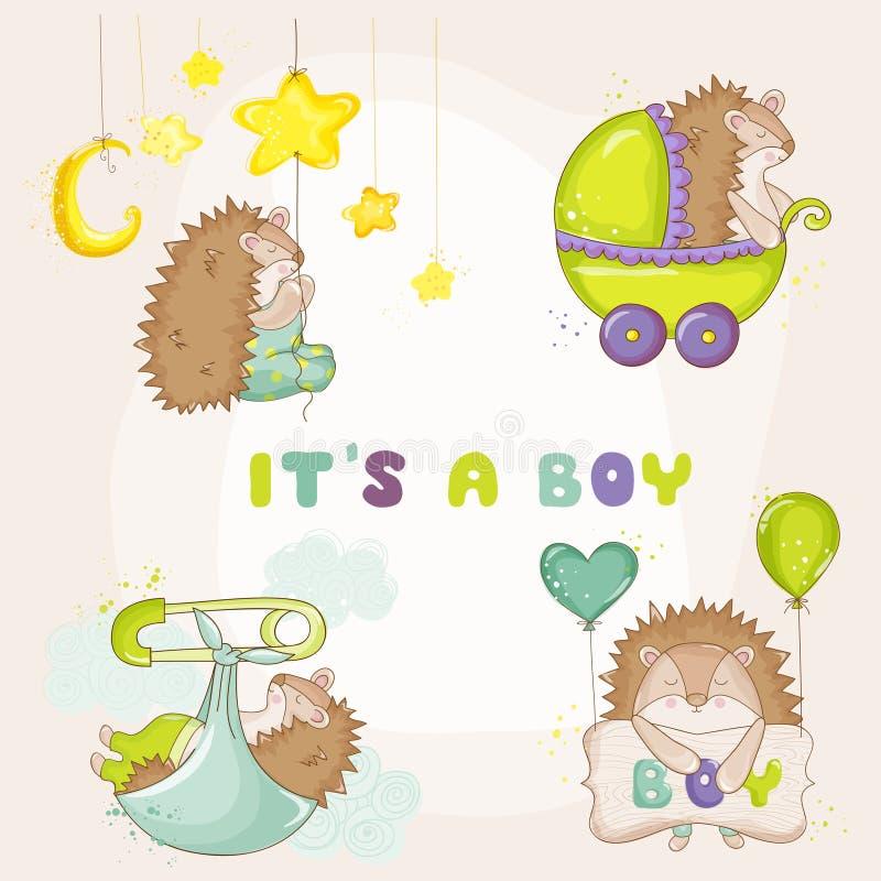 Baby-Igeles eingestellt - für Babyparty-oder Baby-Ankunfts-Karten stock abbildung