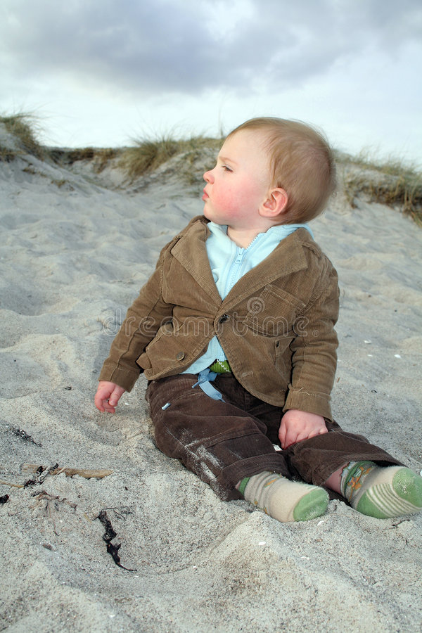 Free Baby In Sand Stock Image - 2094831