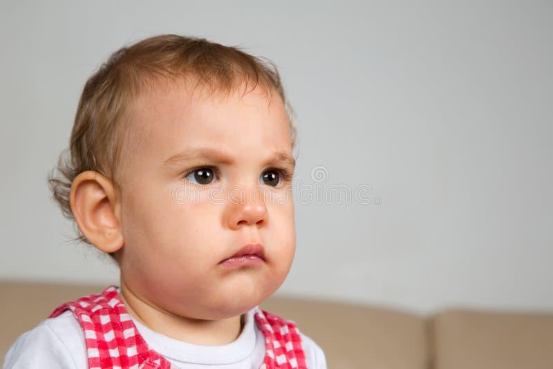 Baby ist verärgert stockbild