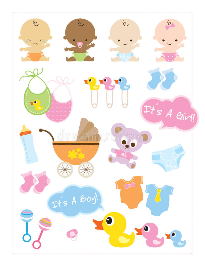 Baby Items royalty free illustration