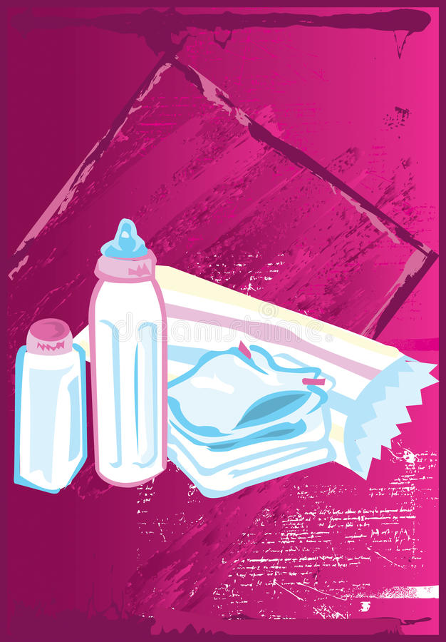 Baby items vector illustration