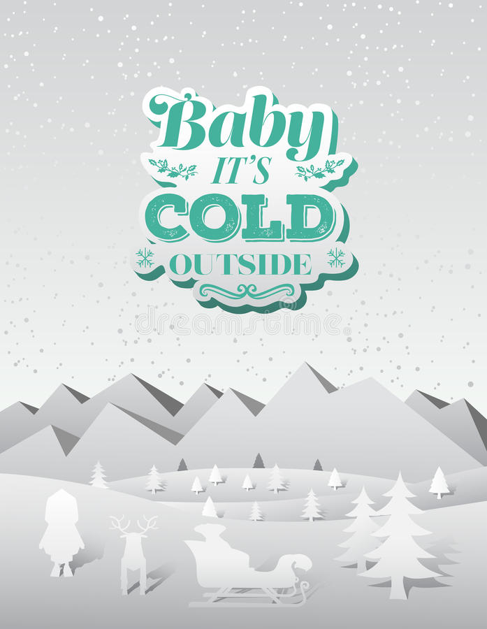 Free Baby Its Cold Outside Christmas Vector Stock Images - 45913594