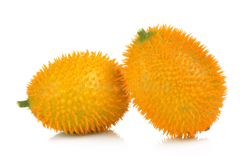 Baby Jackfruit, Doornige Bittere Pompoen, Zoete Grourd of Cochinchin G royalty-vrije stock afbeelding