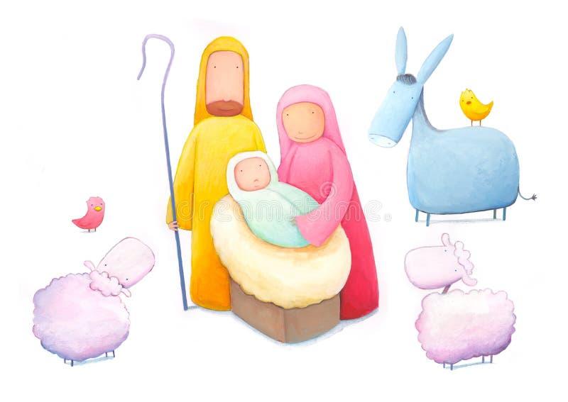 Baby Jesus stock illustratie