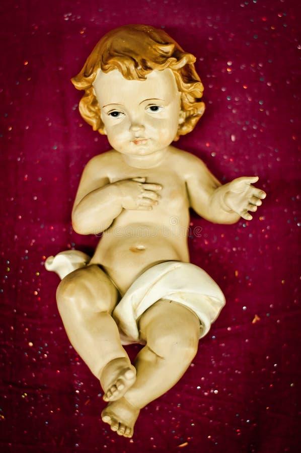Baby Jesus Christ figure stock photo