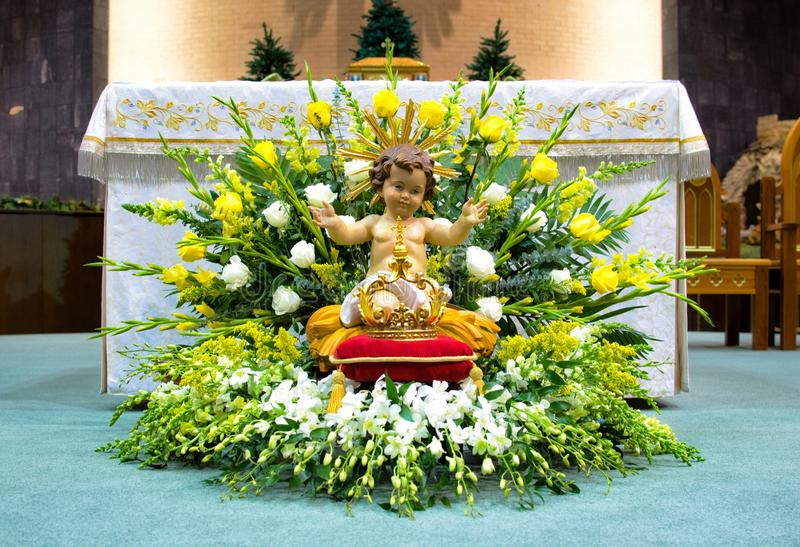 Altar on Feast of Epiphany of the Lord royalty free stock photo