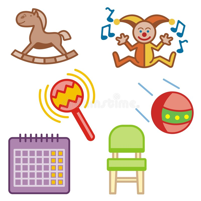 Download Baby and Kids' Icon Series stock vector. Image of clown - 2001970