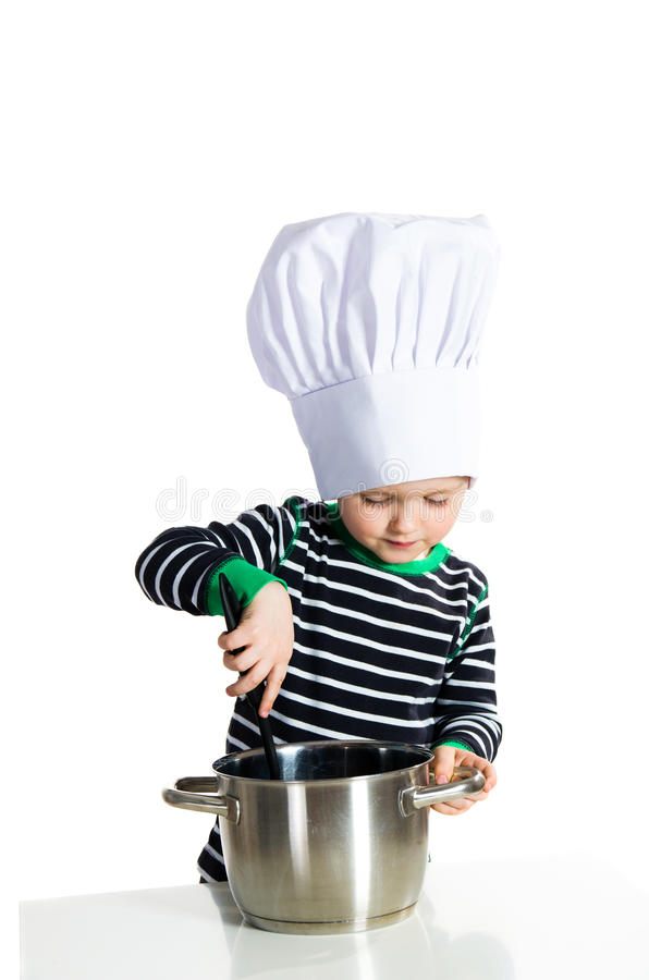 Baby Kitchen Chef Cook Royalty Free Stock Images