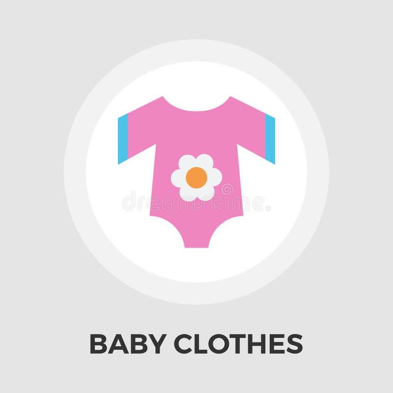 Download Baby kleidet flache Ikone vektor abbildung. Illustration von nachricht - 90225756