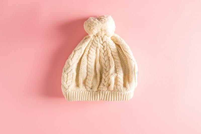 Baby Knit-Winterhut lizenzfreie stockfotos