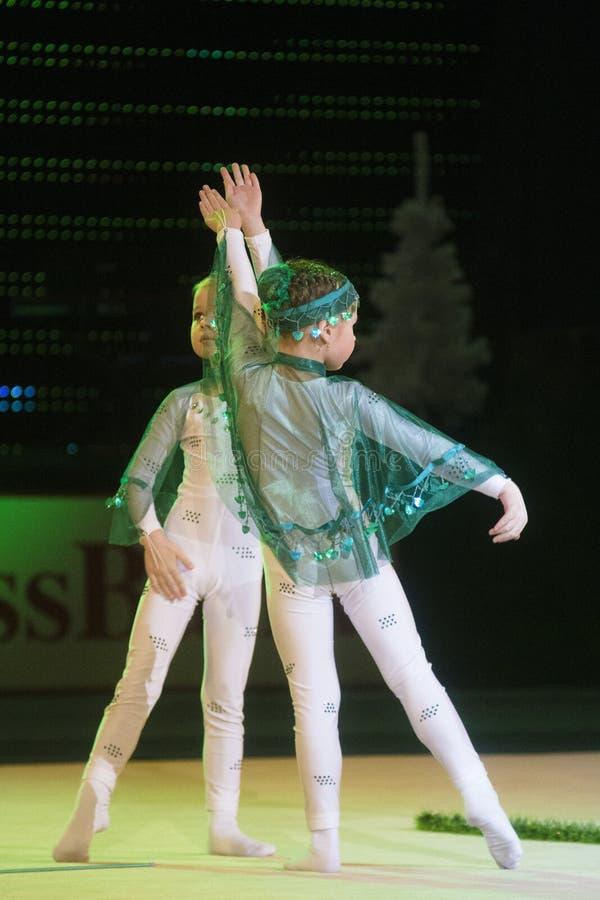 Baby-kop 2013 rhythmicswedstrijd in Minsk, Wit-Rusland royalty-vrije stock foto